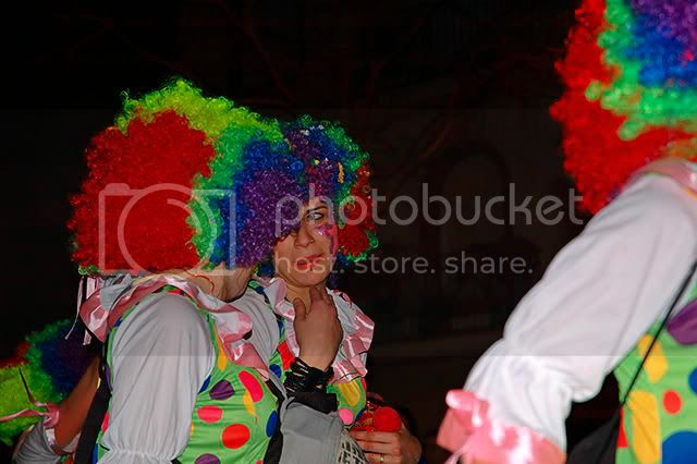 Barcelona Carnival Costumes: Clowns in the Mirror [enlarge]