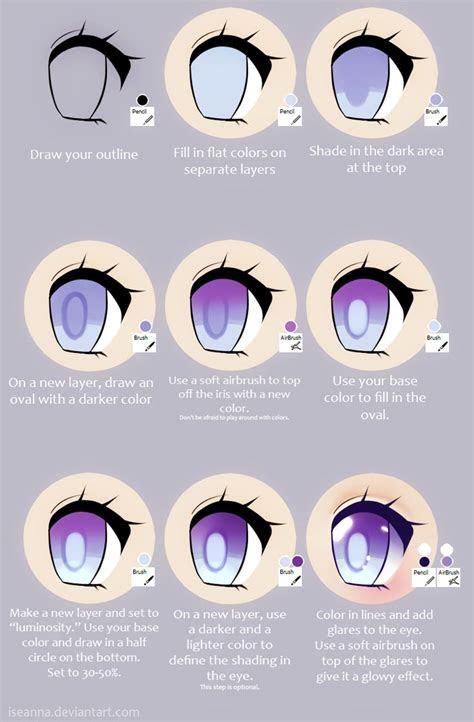 anime eye tutorial  iseannadeviantartcom