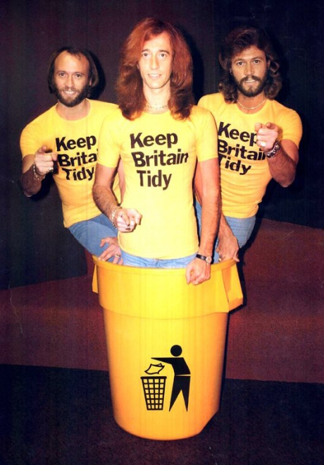 Keep Britain Tidy with the Bee Gees