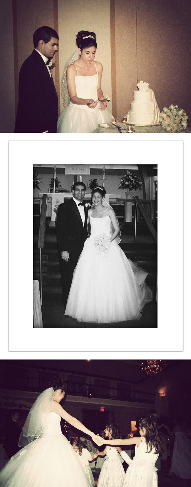 Wedding dress, Fashion, Oleg Cassini wedding dress, Manolo Blahnik heels, Tiara