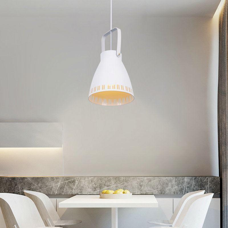 Moderne Pendelleuchte Eimer Design im Wohnzimmer