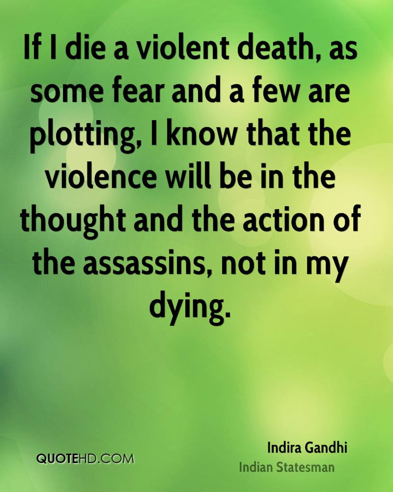 If I a violent as some fear and a few are plotting