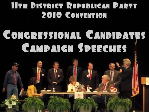 Candidates in the Congresssional Primary at the 2010 Convention of the 11th District Republican Party