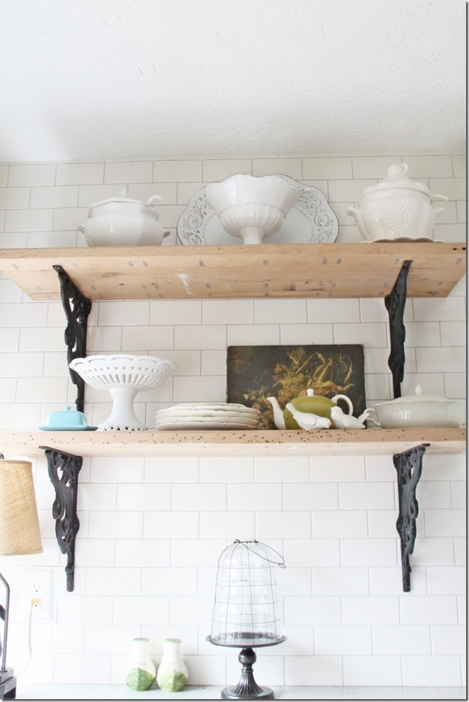 kitchen Rustic shelves2