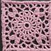 """6"""" Pink Squared Circle"""