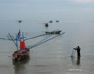 Fishing boat at the beach, Prachuap Khiri Khan town