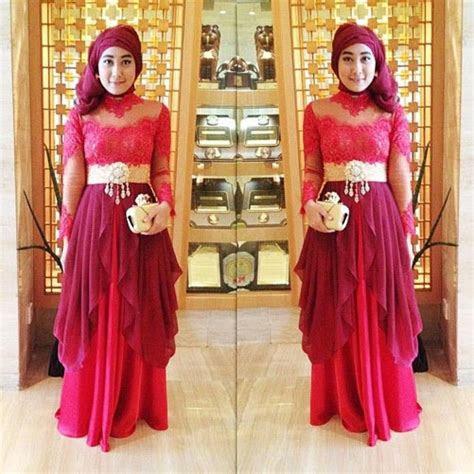 model kebaya muslim modern terbaru tutorial hijab