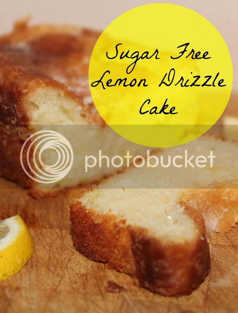 sugar free lemon drizzle cake