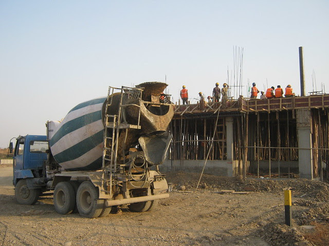 Ready Mix Concrete for the slab - Life Republic - Hinjewadi Marunji - on 22nd February 2012 - World Thinking Day