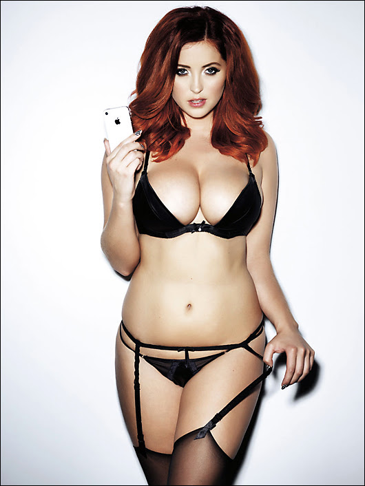 lucy collett in lingerie