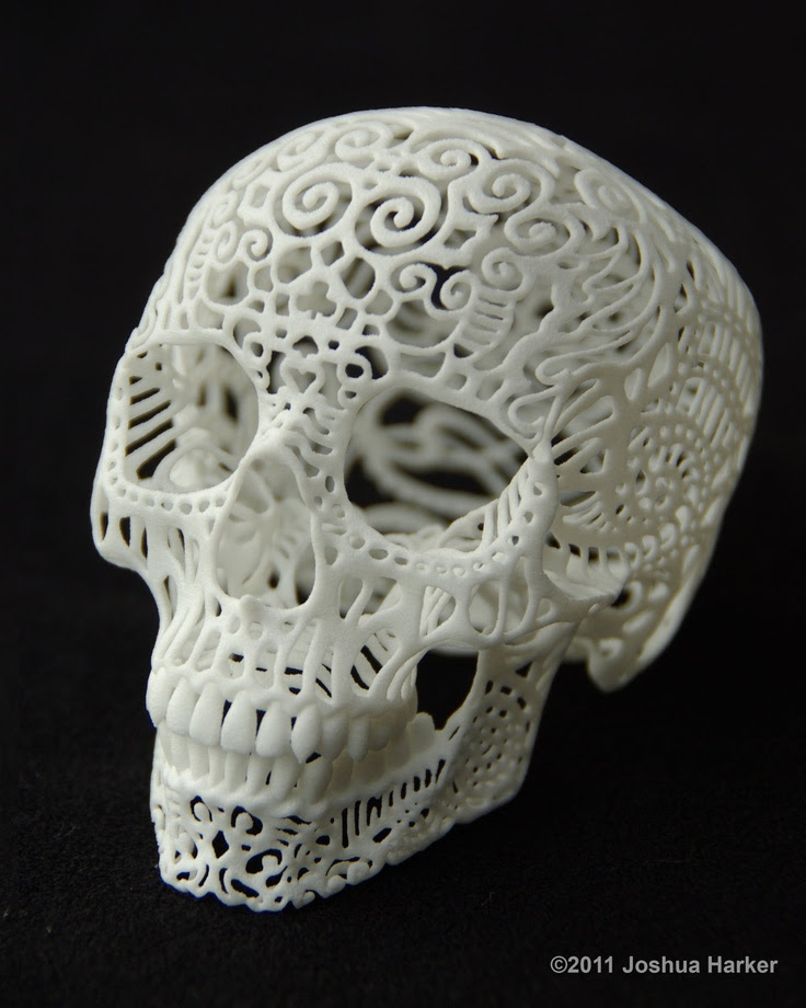 Skull Sculpture Crania Anatomica Filigre (large). By shhark, via Etsy.