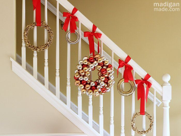 Decorating a Staircase for the Holidays ~ Madigan Made { simple ...