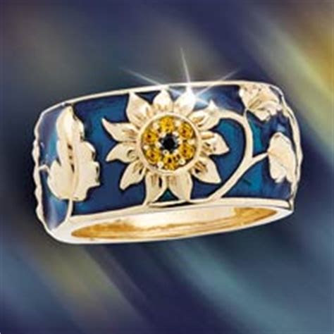 concorde collection jeweled sunflower ring genuine