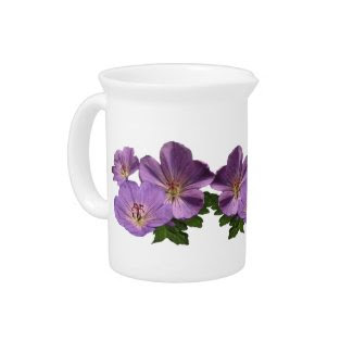 Purple Geranium Flowers Pitchers