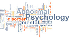 word cloud for abnormal psychology