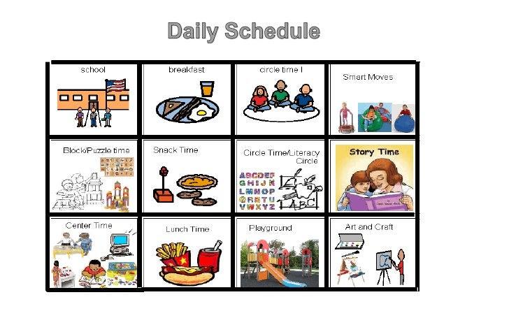 Daily schedule prek