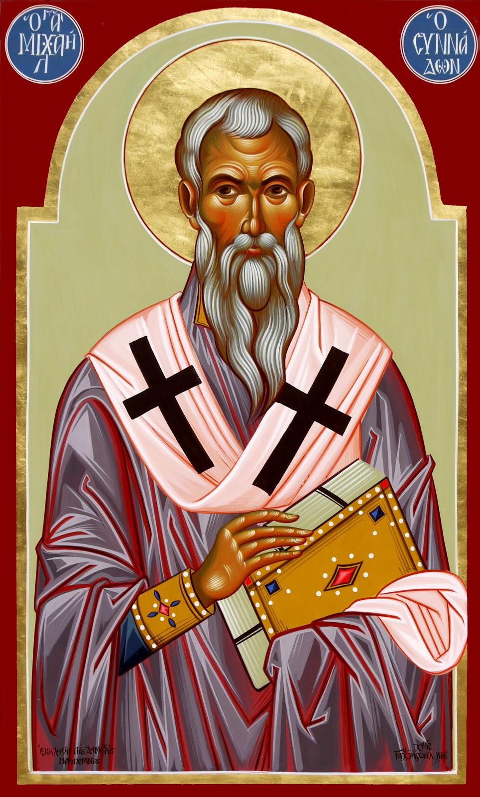 Αποτέλεσμα εικόνας για Ὁσίου πατρός ἡμῶν καί Ὁμολογητοῦ Μιχαήλ, ἐπισκόπου Συνάδων