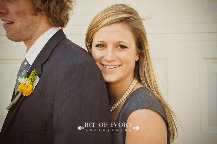 yellow and gray bridesmaid and groomsman