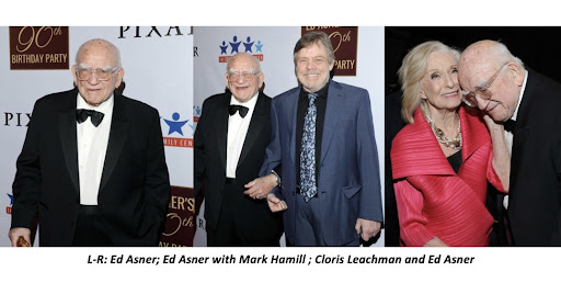 Avatar of Ed Asner Celebrated his 90th Birthday With a Celebrity Roast by Mark Hamill, Cloris Leachman, Brad Garrett, Ed Begley Jr, Among Others at Sold-Out Gala; Jackson Browne, Darius Rucker & Steve Lukather Headlined Party Hosted by Tom Bergeron