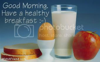 Good Morning Facebook Graphic Have A Healthy Breakfast