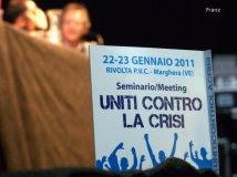Marghera - Seminario Meeting Uniti contro la crisi