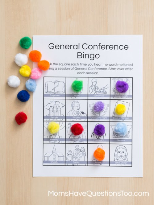 General Conference Bingo with Free Printable Bingo Cards - Moms Have Questions Too