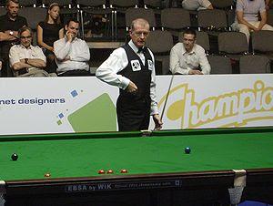 English: Steve Davis on the Warsaw Snooker Tou...