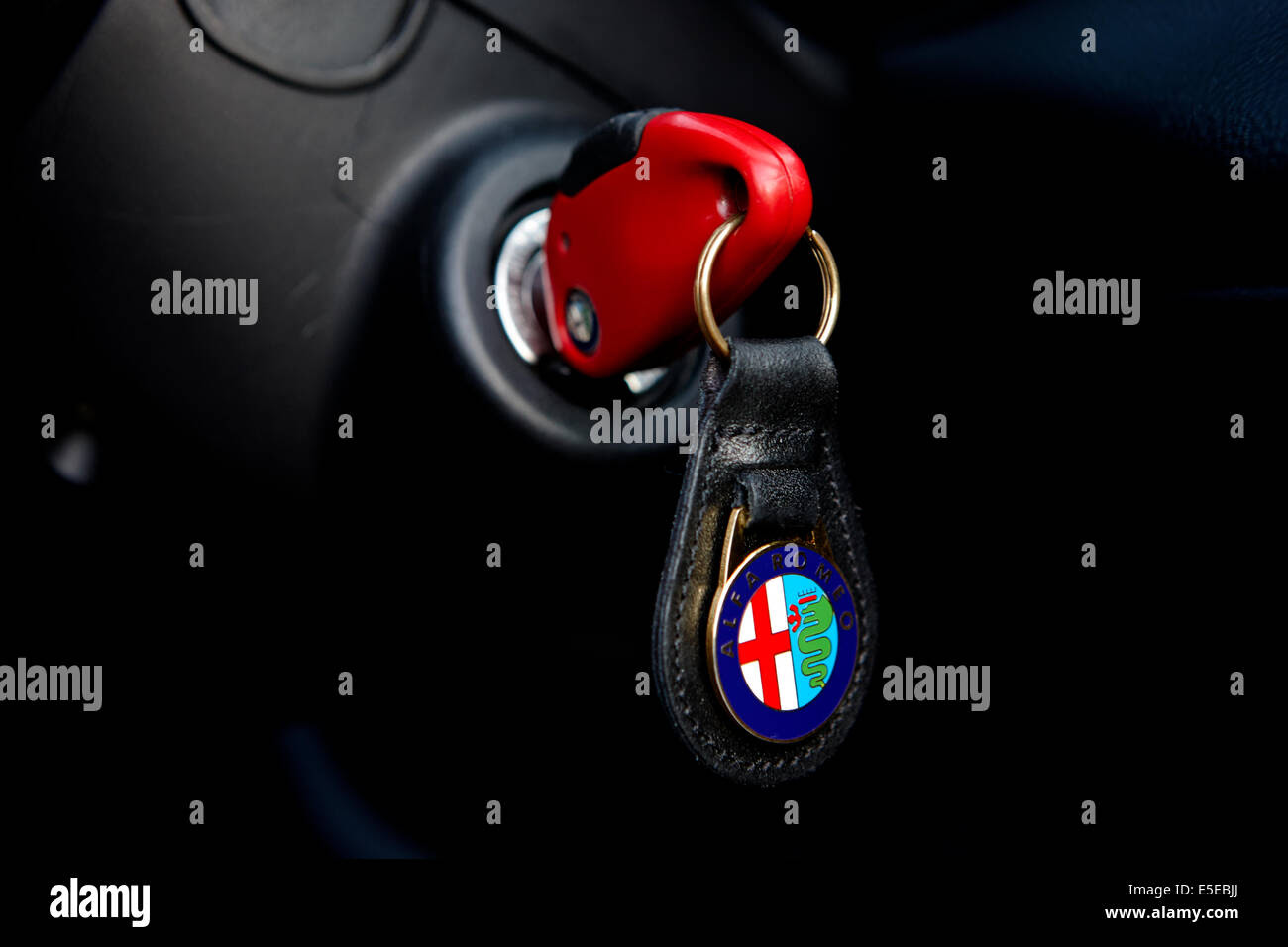 key in the ignition of an Alfa Romeo 156 Stock Photo, Royalty Free Image: 72231226  Alamy