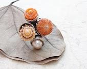 Orange Sea Urchin Ring Shell Coral Pearl Sea Urchin - StaroftheEast