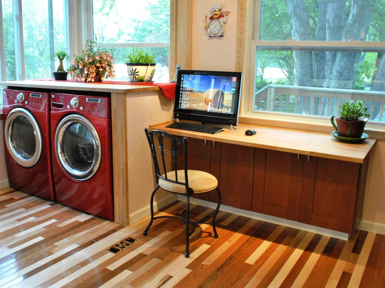 Build a simple kitchen desk with HGTV | HGTV