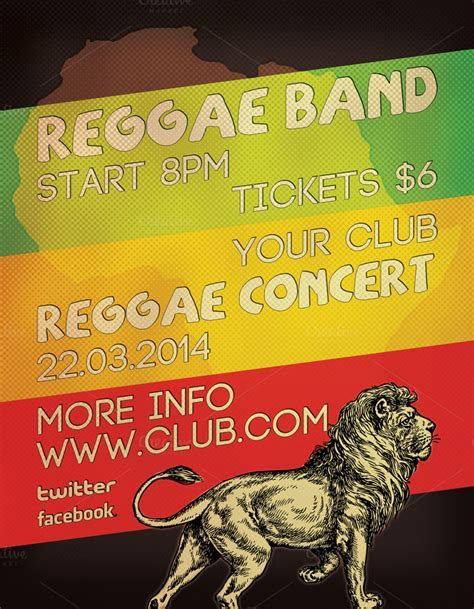 Reggae Concert Flyer ~ Flyer Templates on Creative Market