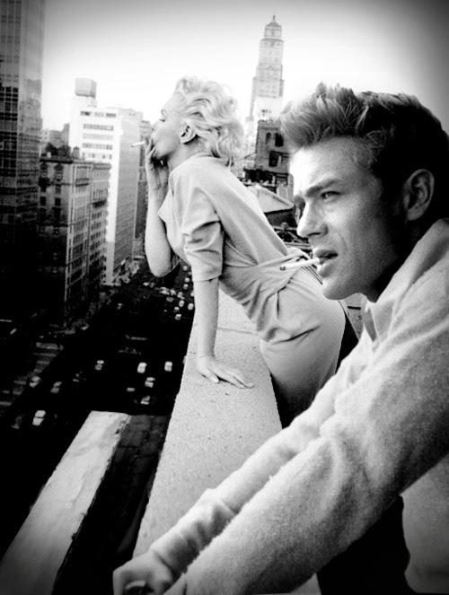 courtmetragee:  Marilyn Monroe and James Dean.