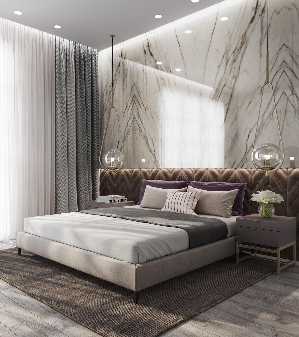 Bedroom Luxury Marble Flooring Luxury Bedrooms Ideas