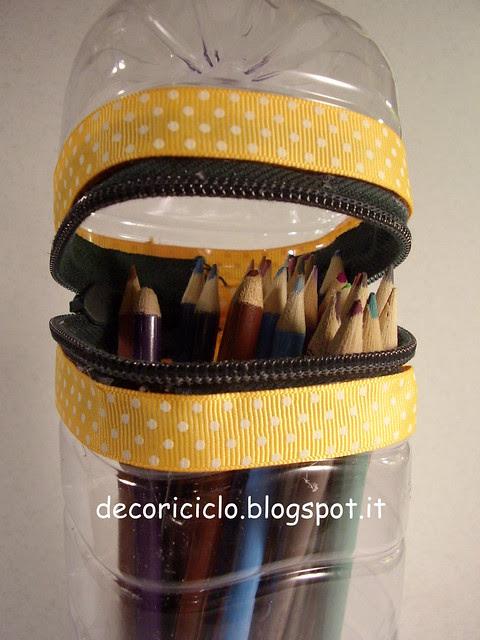 porta-matite bottiglia di plastica 3