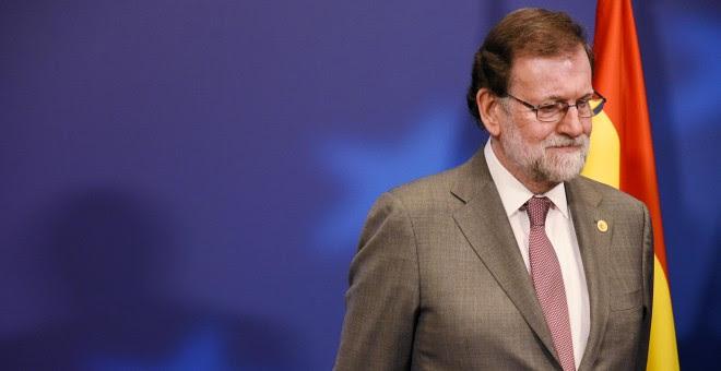 El presidente del Gobierno, Mariano Rajoy, en la reunión del Consejo Europeo, el pasado viernes, en Bruselas. REUTERS/Riccardo Pareggiani