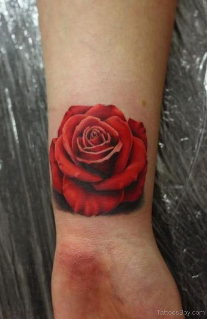 Red Rose Tattoo On Wrist Tattoo Designs Tattoo Pictures
