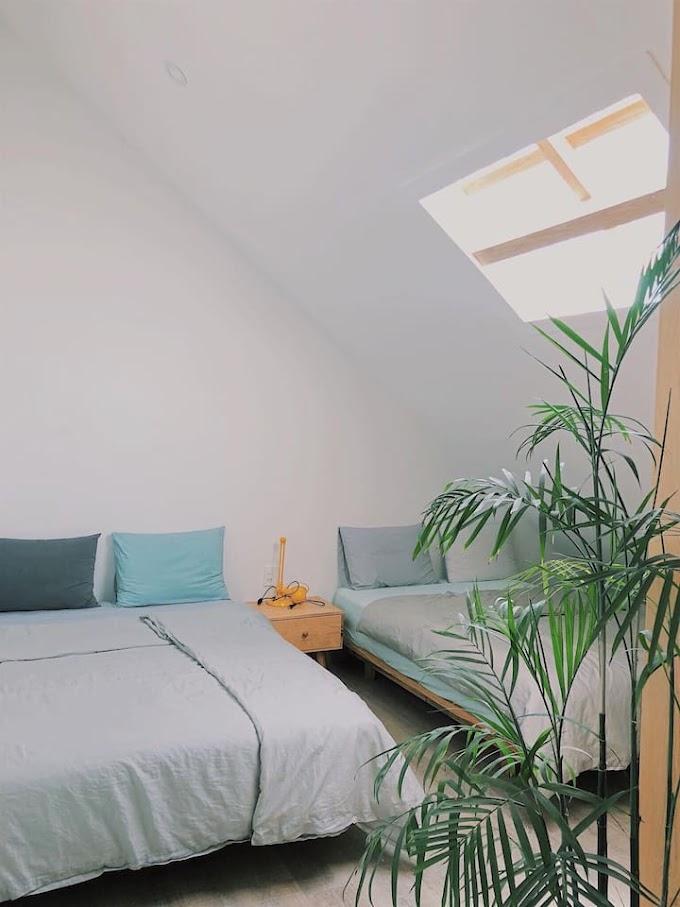 Tía Dú Biệt thự Homestay Đà Lạt (Attic room 8 with 2 beds, cozy and pretty) - Phòng áp mái cho 4 người
