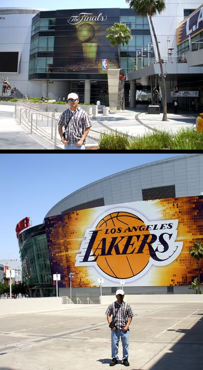 More photos of me at STAPLES Center.