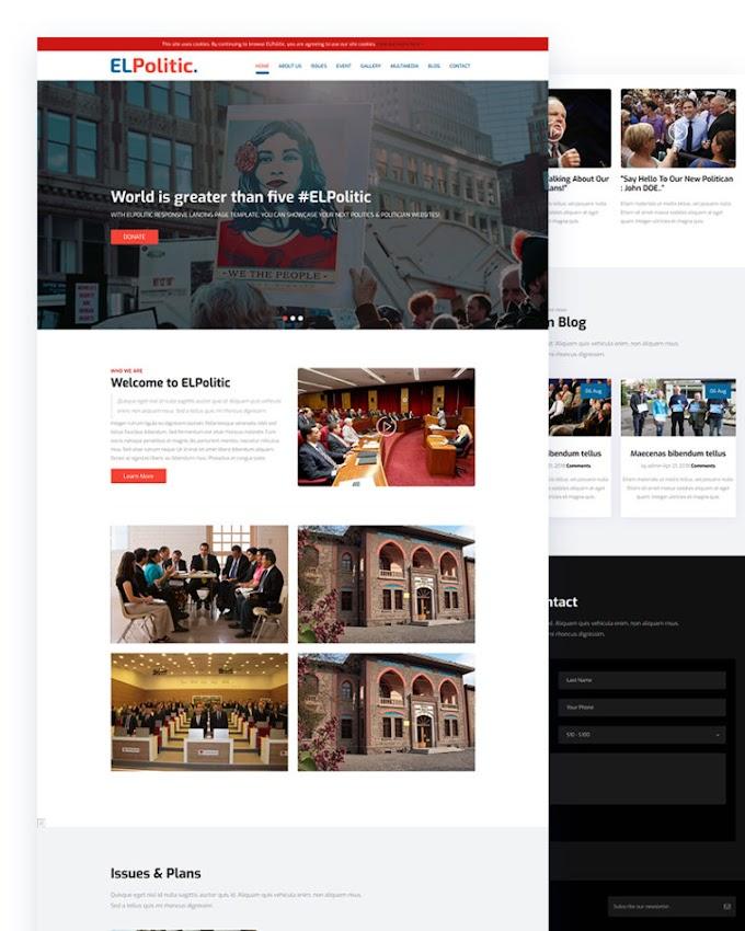 EL Political – Free Politics Website Template