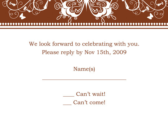 thank you card template printable. RSVP/Save The Date Template
