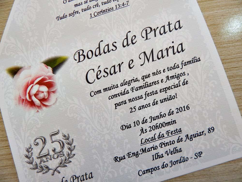 Convite De Bodas De Casamento