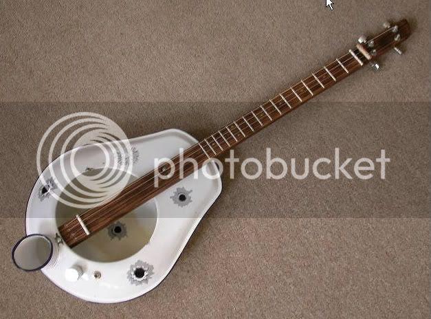 Bedpan guitar