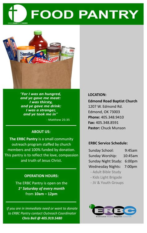 edmond road baptist church food pantry serving  edmond