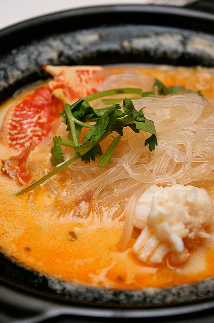 Australian Lobster with Vermicelli in Superior Stock : $16.80 per 100g