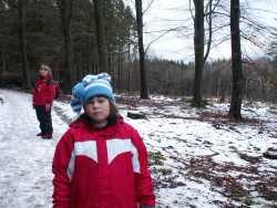 Snö på Söderåsen passade Kimmy