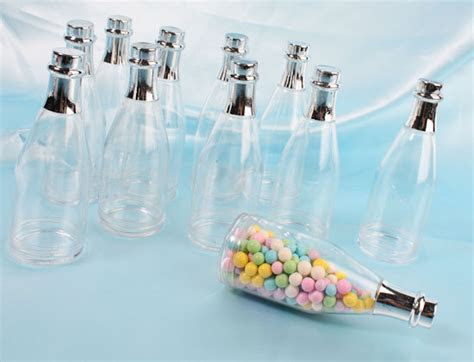 Champagne Bottle Fillable Favors   Favor Boxes and Bags