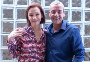 Na TV, Alexandre Borges e Júlia Lemmertz desmentem boatos de separação  - Encontro com Fátima Bernardes/TV Globo
