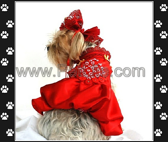CutomMade Pet Clothes Fashion Pet Wedding Dress S9909
