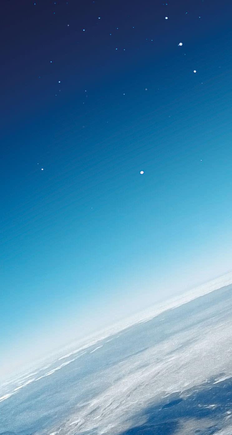 夜空と地球 Iphone5 スマホ用壁紙 Wallpaperbox