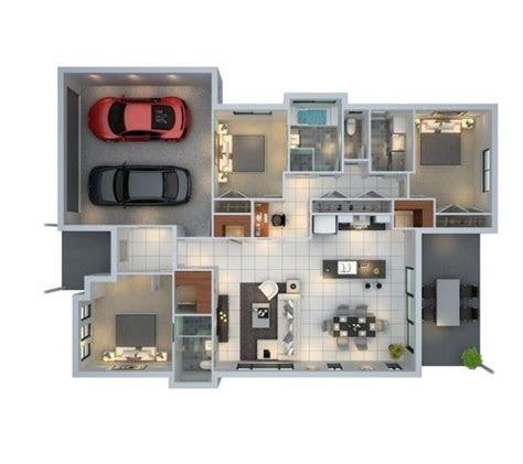 bedroom  parking space floor plan decoraciones